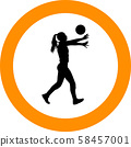 volleyball girl player. women group play 58457001
