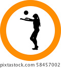 volleyball girl player. women group play 58457002