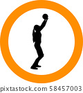 volleyball girl player. women group play 58457003