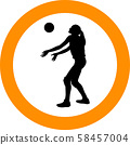 volleyball girl player. women group play 58457004