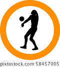 volleyball girl player. women group play 58457005
