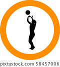 volleyball girl player. women group play 58457006