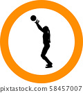 volleyball girl player. women group play 58457007