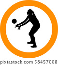volleyball girl player. women group play 58457008