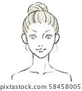 Beauty illustration Hand drawn 02 No background 58458005