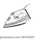 Sketch iron on a white background. Vector 58459087