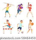 Vector illustrations of sport people playing games 58464450