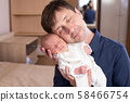 Young father with baby boy 58466754