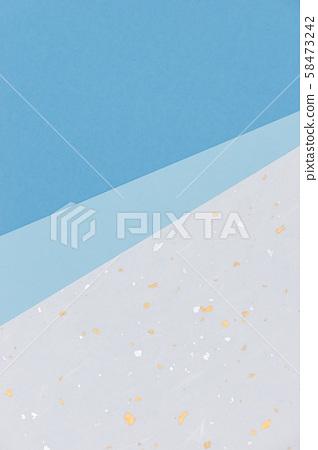 Background image・Blue Japanese paper 3 sheets・5 58473242