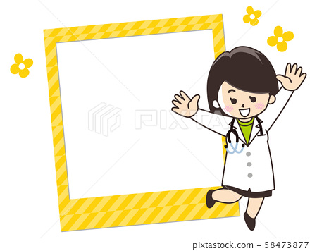 Female doctor photo frame 58473877