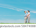 수석 부부 (푸른 하늘, 산책 공원 58474088