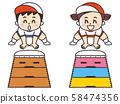 Kid jumping the box 58474356
