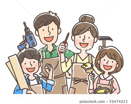 DIY 가족 일요일 목수 인테리어 등 58474823