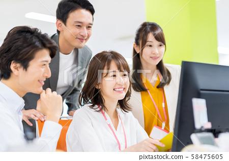 商業,辦公,團隊,個人電腦 58475605