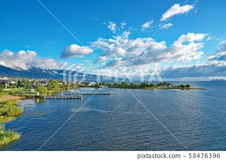 [From the Lake Biwa Bridge Observatory] Imazuta, Otsu City, Shiga Prefecture 58476396