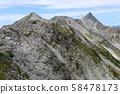 Landscape from the Northern Alps Kusuho Mountain Range Nakadake Minamidake Longitudinal Trail overlooking Mt. 58478173