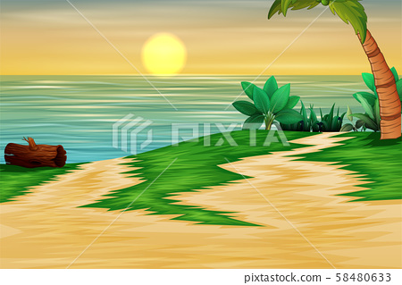 Beautiful landscape of the sea at sunset time 58480633