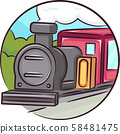 Icon Old Train Illustration 58481475