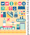 Airport Facilities Elements Illustration 58481481