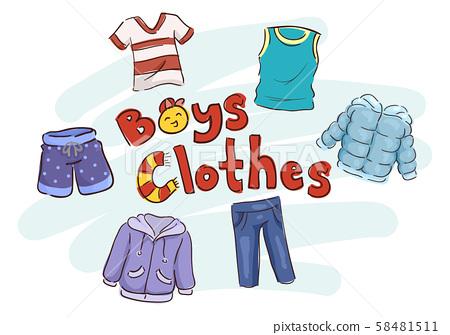 Boys Clothes Illustration 58481511