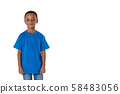 little african american boy, isolated 58483056