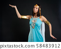 Attractive girl in Ancient Egyptian Cleopatra role 58483912