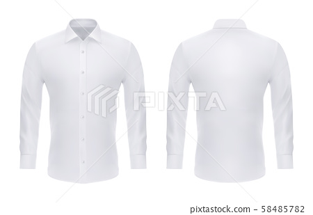 Formal realistic shirt with buttons for man 58485782