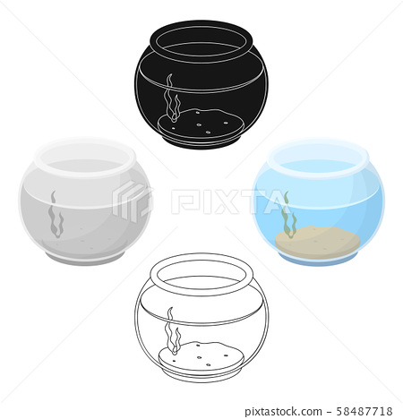 Aquarium with water.Pet shop single icon in cartoon,black style vector symbol stock illustration web 58487718