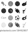 Isolated object of ball and soccer sign. Collection of ball and basketball stock vector illustration 58492807