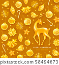 Festive Christmas And New Year Greeting Card 58494673