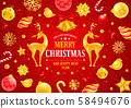Festive Christmas And New Year Greeting Card 58494676