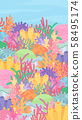 Coral Reef Background Illustration_Colorful_16: 9_Vertical 58495174