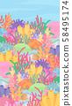 珊瑚礁背景Illustration_Colorful_16:9_Vertical 58495174