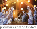 Christmas nativity scene; Jesus Christ, Mary and 58495621