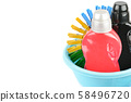 Household chemicals for cleaning isolated on white 58496720