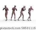 男性解剖学肌肉3DCG例证材料 58501116