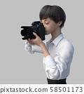 女摄影师perming3DCG插图素材 58501173