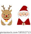 圣诞圣诞老人和驯鹿上半身 58502713