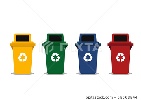 set of different garbage illustration vector 58508844