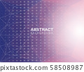 Abstract geometric purple and blue background with 58508987