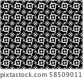 Abstract seamless geometric pattern background, 58509011