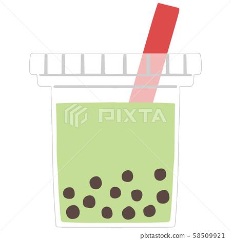 Tapioca matcha milk 58509921