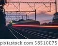 Railway at dawn 58510075