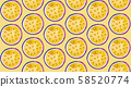 百香果切成薄片,連續排列,百香果,百花香, 58520774