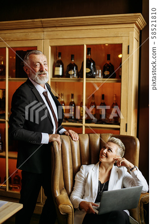 Handsome man and beautiful woman portrait 58521810