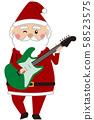 圣诞圣诞老人弹吉他 58523575