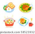 Western food set 58523932