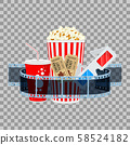 Cinema and Movie Banner 58524182