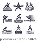 Sport labels set for fighting club. Karate and martial arts 58524826