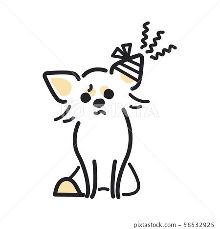 강아지 포즈 표정 1 마리 부상 치와와 58532925